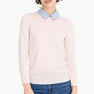 J. Crew Tippi sweater with chambray collar